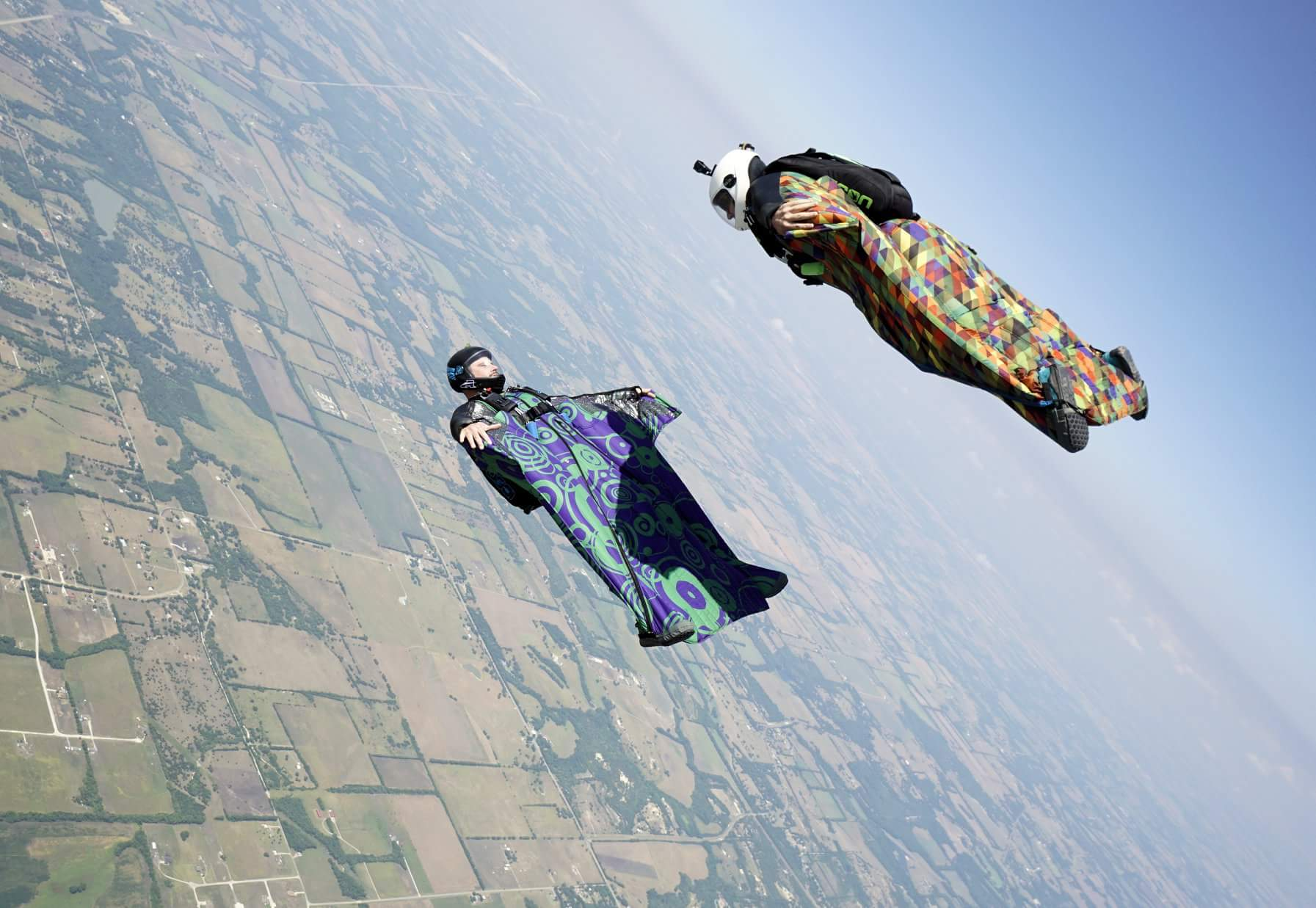 Luke Rogers wingsuit photo by John Cotney